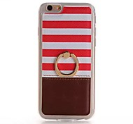 PU PU Stents Lord of the Rings Cross Stripe Mobile phone Case for iPhone 6S/iPhone 6 Assorted Coloe