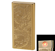 """Personality Originality Charging Lighter Ultra Thin Windproof Electronic Cigarette Lighter Metal Silent """"Dragon"""""""