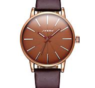 SINOBI® Men's Fashion Simple Quartz Brown & Black PU Leather Strap Watches