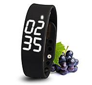 Tracker atividade usb pulseira pedômetro pulseira de esportes inteligentes levou pulseira de silicone saudável