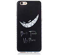 Don't Touch My Phone Pattern TPU Soft Case for iPhone 6/iPhone 6S