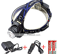 Genwiss 5000Lm CREE T6 LED Zoomable Adjust Focus Headlight Headlamp Waterproof Light torch 2*18650