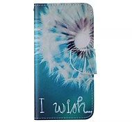Big Dandelion Pattern Cell Phone Leather For Samsung Galaxy Note 5