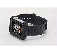 luxo para a correia fivela clássico borracha macia banda 42 milímetros relógio iWatch maçã + tampa do caso
