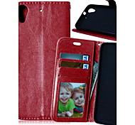 роскошный кожаный PU держателя карты бумажник стоят откидную крышку с фото рамка для случая HTC Desire 626 (ассорти цветов)