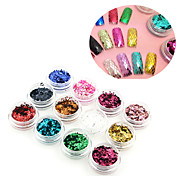 1Set/12Colors  Manicure Sequined Suit 12 Colors Diamond Manicure Sequins Sequins Large Nail Stickers