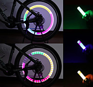 Bike Light , Valve Cap Flashing Lights / Safety Lights / Cap Lights 80 Lumens Waterproof AG10 x 100mAh Battery