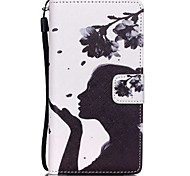 Flower Girl Pattern PU Leather Case for Huawei P8 Lite