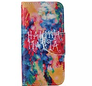 Graffiti Pattern Cell Phone Leather For iPhone 5/5S