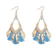 Bohemian Fashion Leaf Pendant Earrings Wedding Jewelry