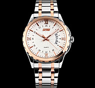 Men Between The Gold Shell Waterproof Calendar Watches Steel Business Exquisite Hand Wrist Watch Cool Watch Unique Watch