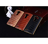 LG G4 Plastic / PU Leather / Metal Back Cover / Bumper Graphic / Solid Color / Metal Finish / Special Design case cover