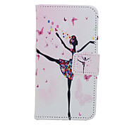 New  Simple Girl Pattern Flip Card Holder Case  for Samsung Galaxy S6/S3/S4/S5/S6 edge/S6 edge+