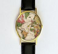 relógio do vintage mapa do mundo, mapa antigo, relógio de senhoras, unisex, cartografia, mapa velho, vintage inspirado, relógio dos homens