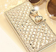 Luxury Bling Crystal & Diamond Leather Flip Bag For iPhone 6 Plus/6S Plus (Assorted Colors)