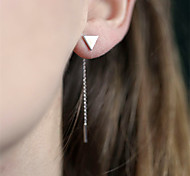 Жен. Серьги-слезки Простой стиль европейский бижутерия Сплав Треугольной формы Бижутерия Назначение Повседневные