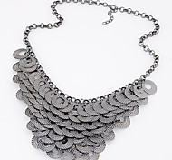 European Style Fashion Metal Fashion Wild Simple Circle Necklace