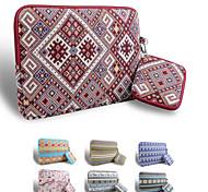 LOELMALL ® Carry Laptop Sleeve Canvas Fabric 13-13.3 Inch  (Rhombus)