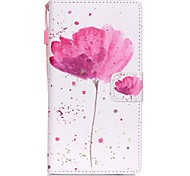 На все тело Визитница / бумажник / с подставкой Цветы Искусственная кожа жесткий Для крышки случая Huawei Huawei P8 Lite