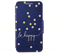 For HTC Case with Stand / with Windows / Flip Case Full Body Case Word / Phrase Hard PU Leather HTC