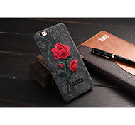 PU Soft Shell Chinese style Artworks Embroidery Rose for iPhone 6S/iPhone 6 Assorted Color
