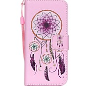 The New Campanula Pattern PU Leather Material Flip Card Cell Phone Case for iPhone 6 /6S