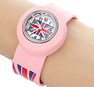 Kids UK Pattern Stretch Band Mini Quartz Watch Cool Watches Unique Watches Fashion Watch