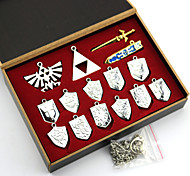 Jewelry Inspired by The Legend of Zelda Cosplay Anime/ Video Games Cosplay Accessories Necklace Silver Alloy Male / Female