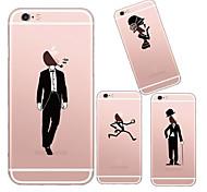 ragazzo maycari®handsome e bella ragazza TPU caso trasparente morbida per iphone 6 6s / iphone (colori assortiti)