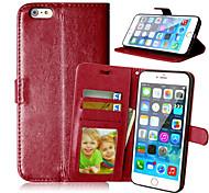 PU cuir carte portefeuille titulaire de luxe reposer le couvercle rabattable avec étui de cadre photo pour l'iphone 6 plus / 6s plus