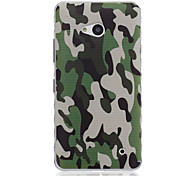 Army Green Pattern TPU Soft Case for Nokia 640