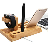 nuovo supporto di legno basamento del caricatore per la vigilanza di mele e iphone 6 plus / 6 / 5s / 5