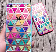Fresh Colour Triangle Rose Pink Hard And Soft Case for iPhone 6/iPhone 6s