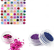 1 Set Nail Art Act The Role Ofing 72 color Ultra Bright Flash Powder Suits Flash Powder Small Sequins Suit PVC Sequins