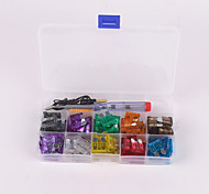 100Pcs car Blade Fuse Kit 2A 3A 5A 7.5A 10A 15A 20A 25A 30A 35A with Electrical Tester Electroprobe Slotted Screwdriver