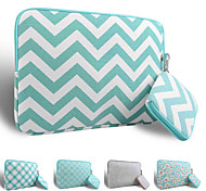 LOELMALL ® Carry Laptop Sleeve Canvas Fabric 13-13.3 Inch (Green stripes)