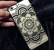 nueva caja del teléfono mate en relieve de impresión flores datura material de la PC para el iphone 6plus / 6s más (colores surtidos)