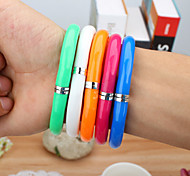 Flexible Ball Pen Cute Soft Plastic Bangle Bracelet Wristlet Circlet Ballpoint Pens School Office Supplies