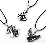 Assassin's Creed Connor Black / Red / Yellow Alloy More Accessories Necklace