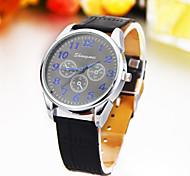 Men's Watch Three Eyes Of Six Needle Gauge PU Watch Strap Watch Cool Watch Unique Watch