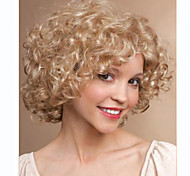 Blonde Color Deep Curly Fashion Woman's Short Wig