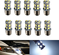 10pcs HRY® 1156 13SMD 5050 White Color Brake Tail Turn Signal Light Bulb Lamp  Auto Led Car Bulb Light (12V)