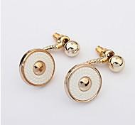 Women Button Drop Earrings Wedding Jewelry