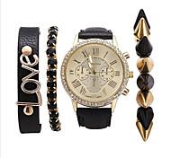 Women's Fashion Leather Band Quartz Anolog Wrist Watch