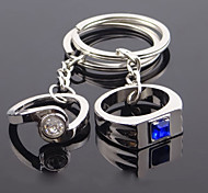 Metal Couple Rings Wedding Couple Keychain Creative Advertising Promotional Gifts
