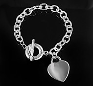 "Fashion 925 Silver Sterling ""LOVE"" Chain & Link Bracelets For Woman&Lady"