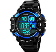Skmei®Men's  Outdoor Sports Multifunction LED Watch 50m Waterproof Assorted Colors Cool Watch Unique Watch