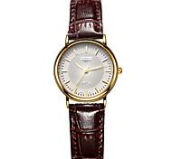 Damenmode aus echtem Leder Armbanduhren