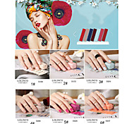 New Arrival Lovely Finger 3D Nail Stickers PVC 1pcs