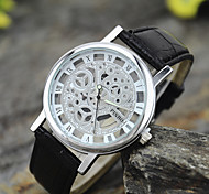 Men's New Fashion Business Casual Silver Hollow Wrist Watch